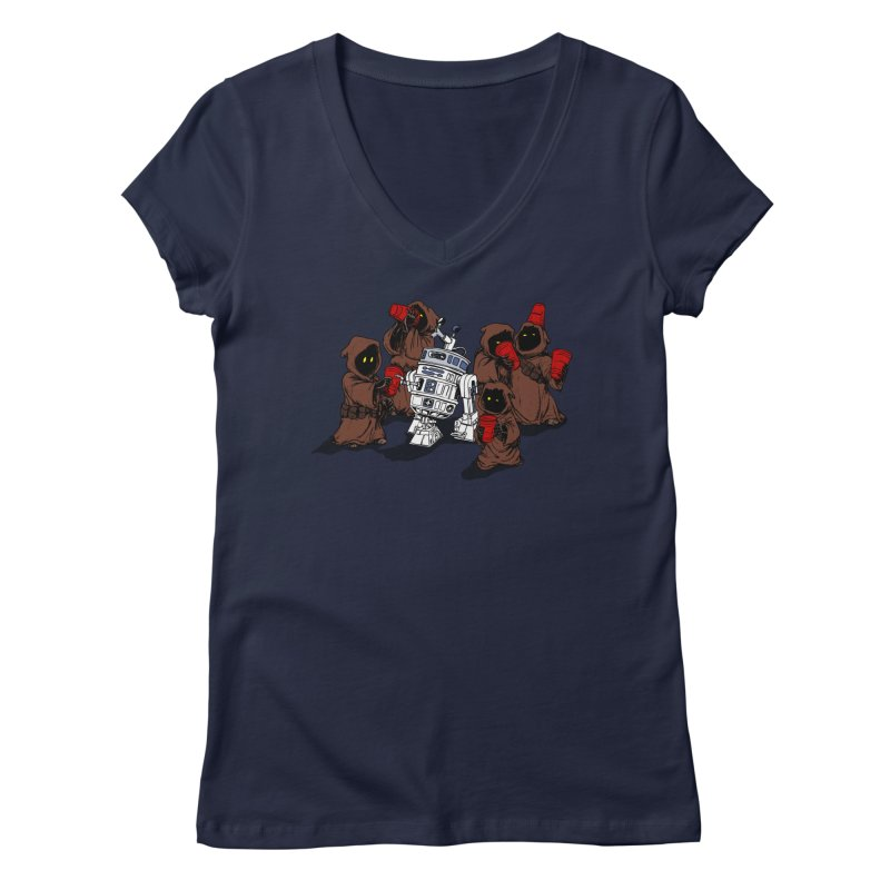 Tap That Droid Women's V-Neck by Jerkass Clothing Co.