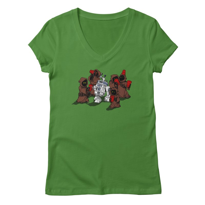 Tap That Droid Women's Regular V-Neck by Jerkass Clothing Co.