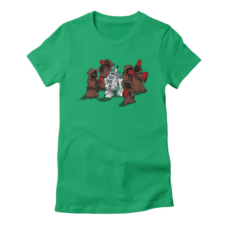 Tap That Droid Women's Fitted T-Shirt by Jerkass