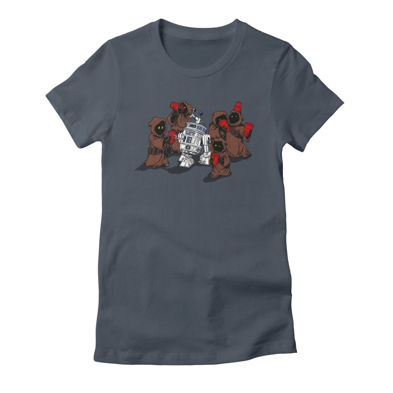 Tap That Droid Women's Fitted T-Shirt by Jerkass Clothing Co.