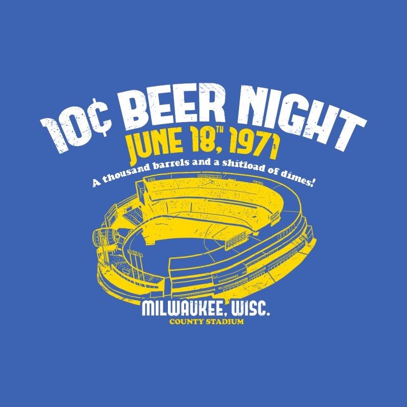 10 Cent Beer Night County Stadium Men's Triblend T-Shirt by Jerkass Clothing Co.