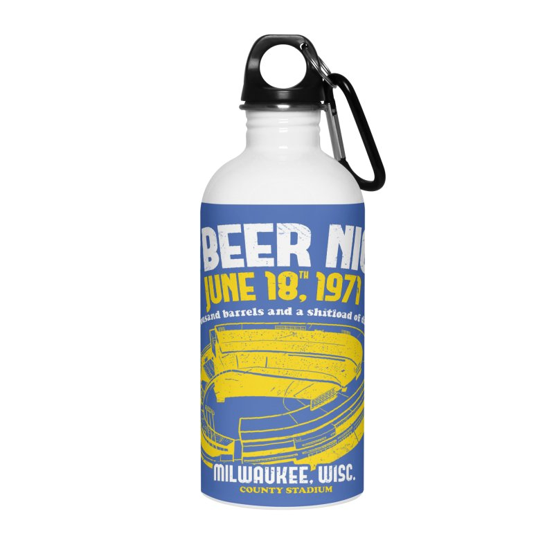 10 Cent Beer Night County Stadium Accessories Water Bottle by Jerkass Clothing Co.