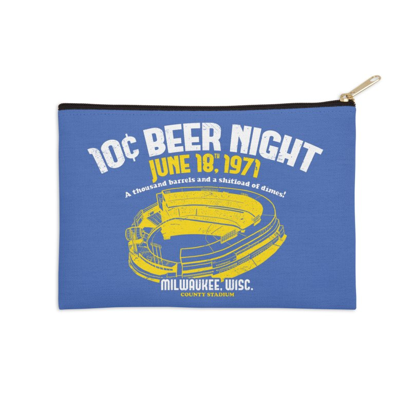 10 Cent Beer Night County Stadium Accessories Zip Pouch by Jerkass Clothing Co.