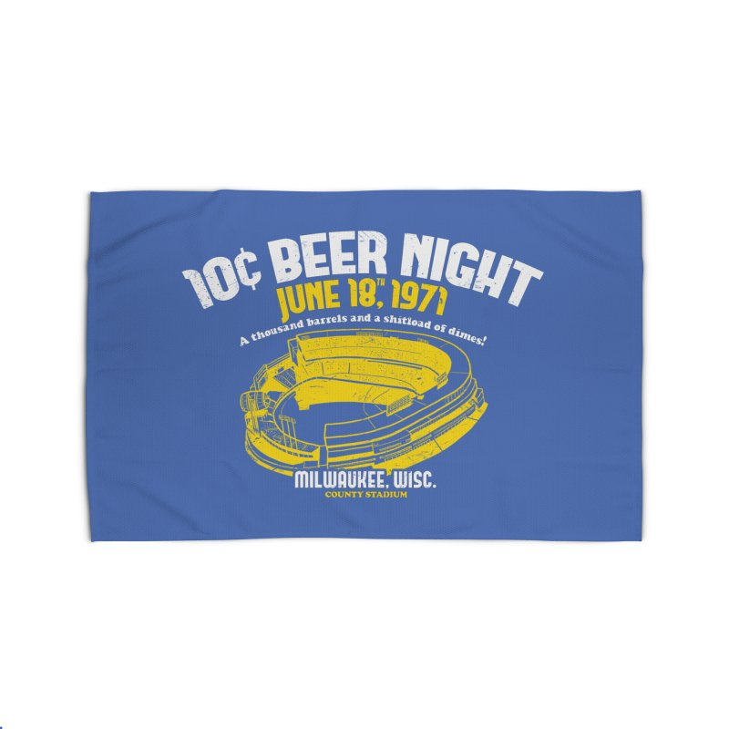 10 Cent Beer Night County Stadium Home Rug by Jerkass Clothing Co.