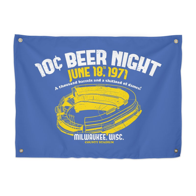 10 Cent Beer Night County Stadium Home Tapestry by Jerkass Clothing Co.