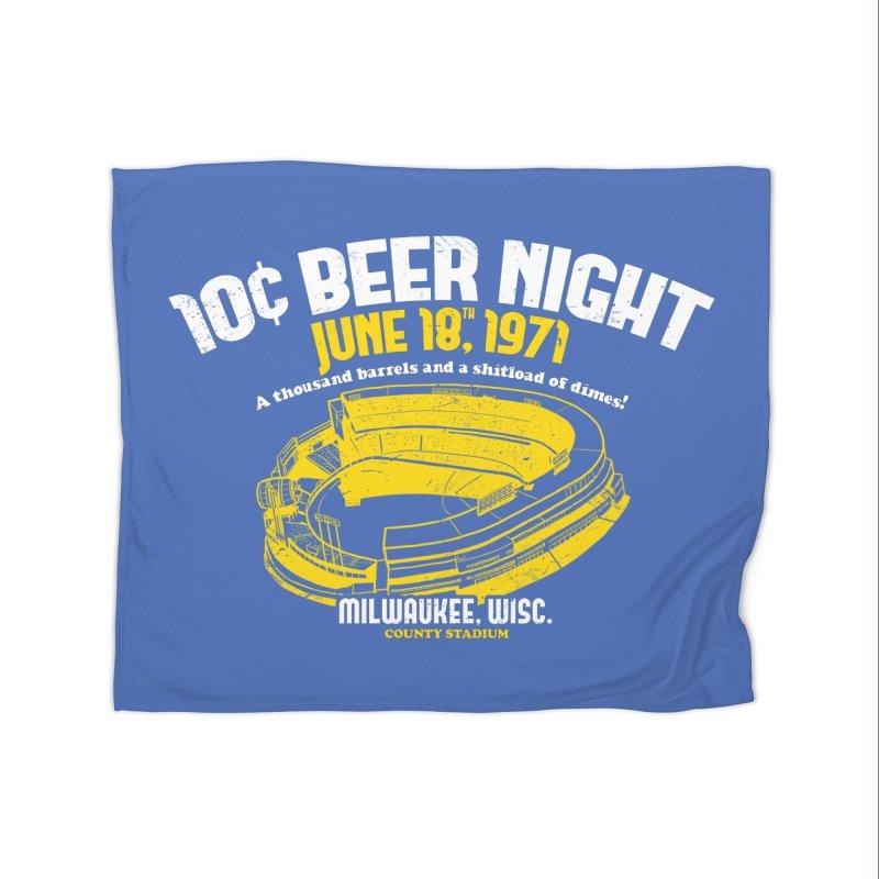 10 Cent Beer Night County Stadium Home Fleece Blanket Blanket by Jerkass Clothing Co.