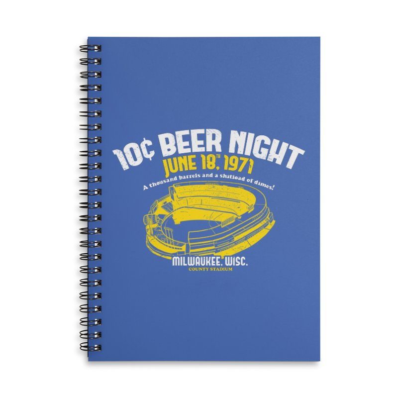 10 Cent Beer Night County Stadium Accessories Lined Spiral Notebook by Jerkass Clothing Co.