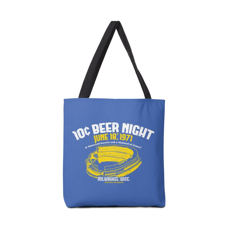 10 Cent Beer Night County Stadium Accessories Bag by Jerkass Clothing Co.