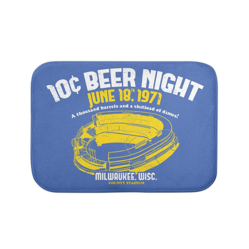 10 Cent Beer Night County Stadium Home Bath Mat by Jerkass Clothing Co.