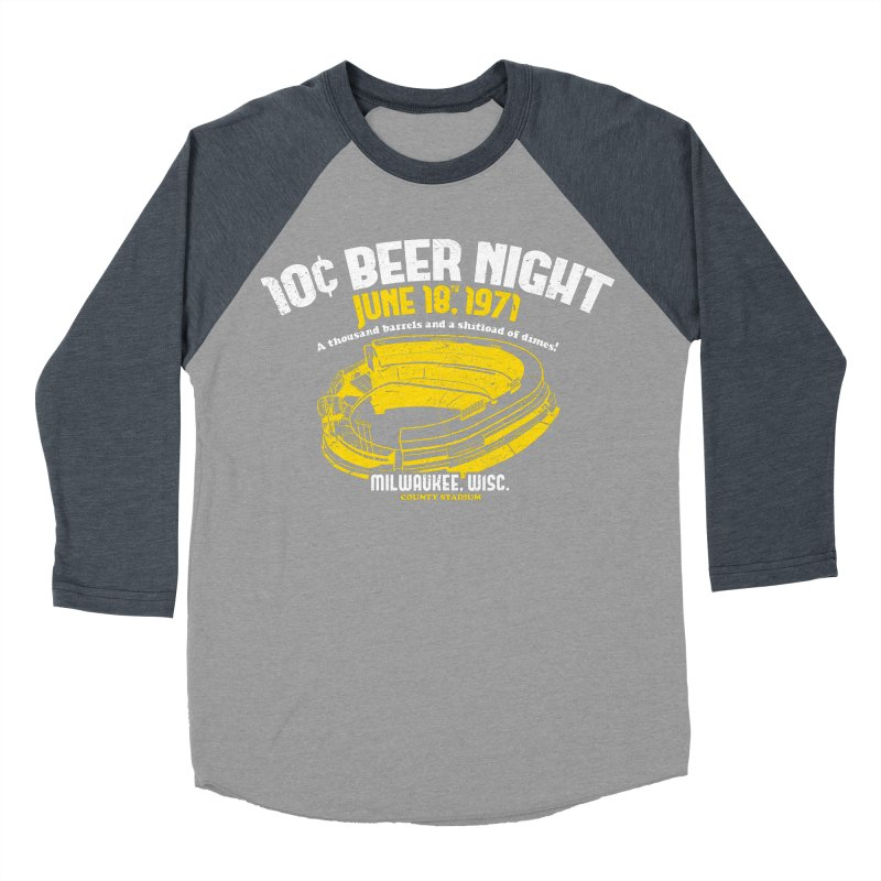 10 Cent Beer Night County Stadium Women's Baseball Triblend Longsleeve T-Shirt by Jerkass Clothing Co.