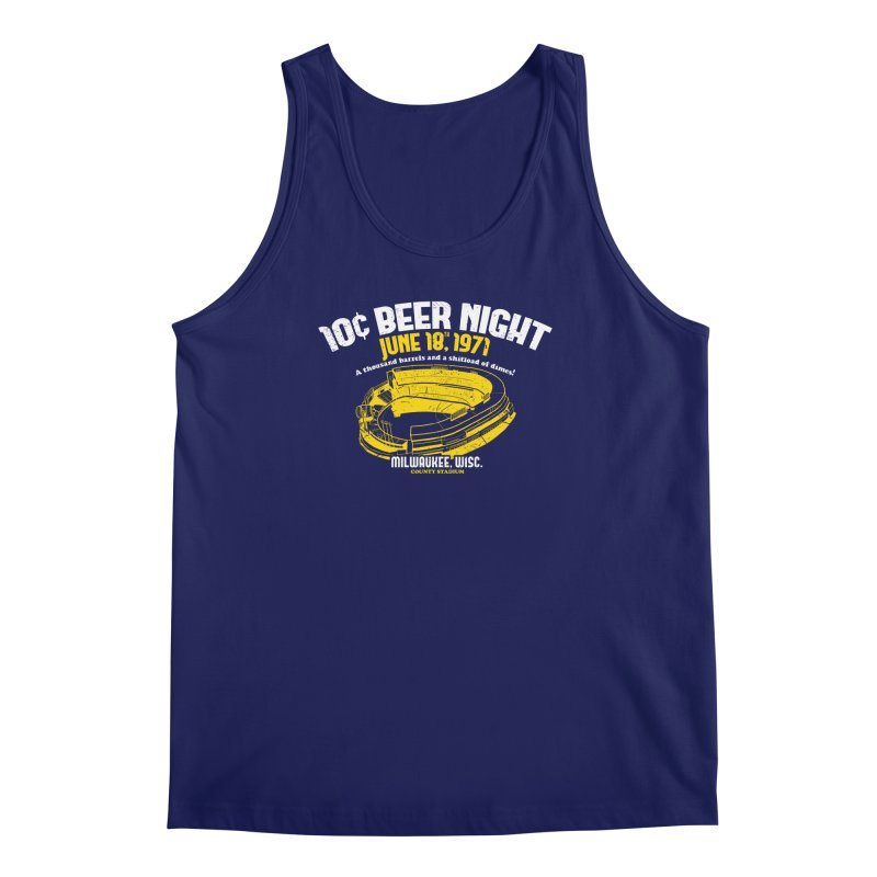 10 Cent Beer Night County Stadium Men's Regular Tank by Jerkass Clothing Co.