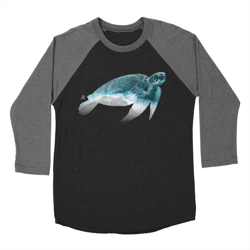I Like Turtles Men's Baseball Triblend Longsleeve T-Shirt by Jesse Giffin's Artist Shop