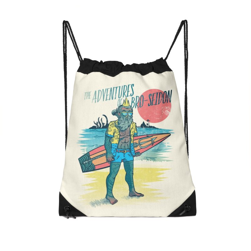 The Adventures of Bro-Seidon Accessories Drawstring Bag Bag by Jesse Nickles