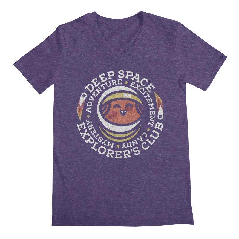 Deep Space Explorer's Club Men's Regular V-Neck by Jesse Nickles