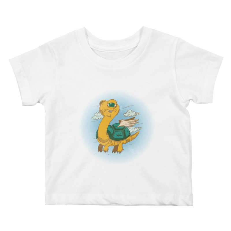Flight of the Turtle Kids Baby T-Shirt by Jesse Nickles