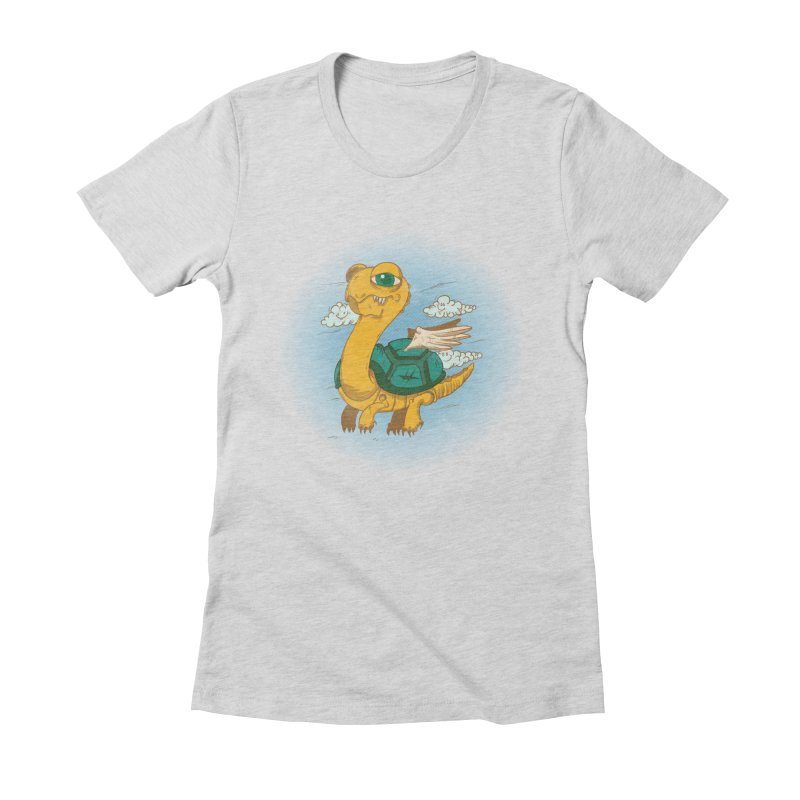 Flight of the Turtle Women's Fitted T-Shirt by Jesse Nickles