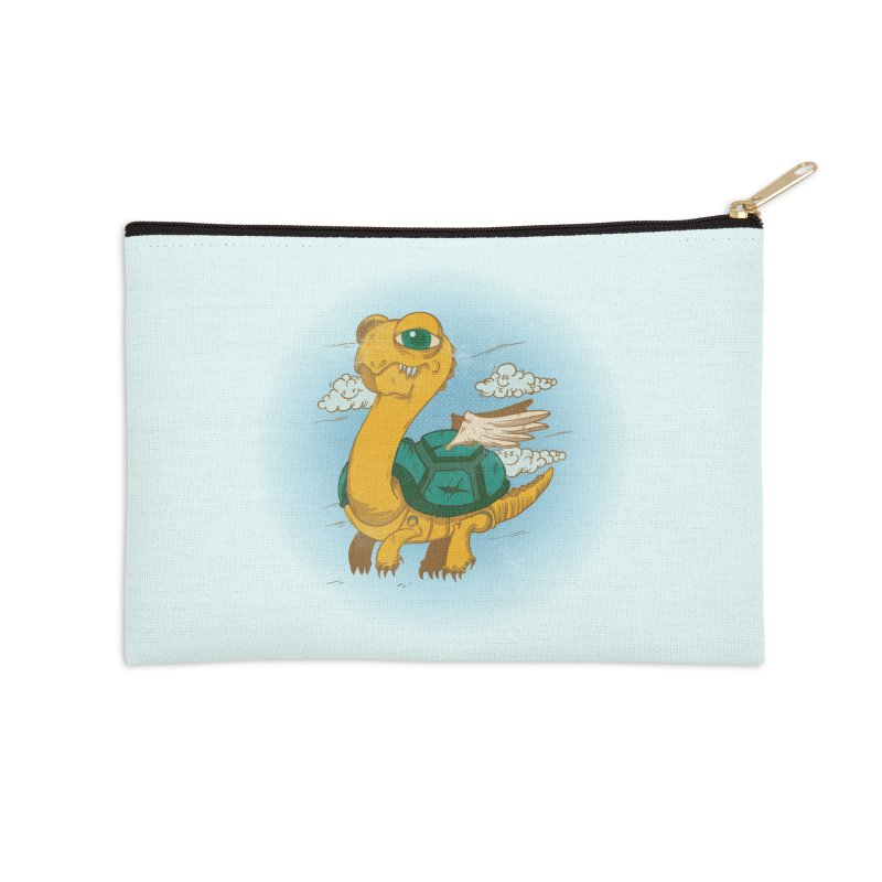 Flight of the Turtle Accessories Zip Pouch by Jesse Nickles