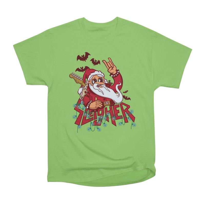 Christmas Sleigher Women's Heavyweight Unisex T-Shirt by Jesse Nickles