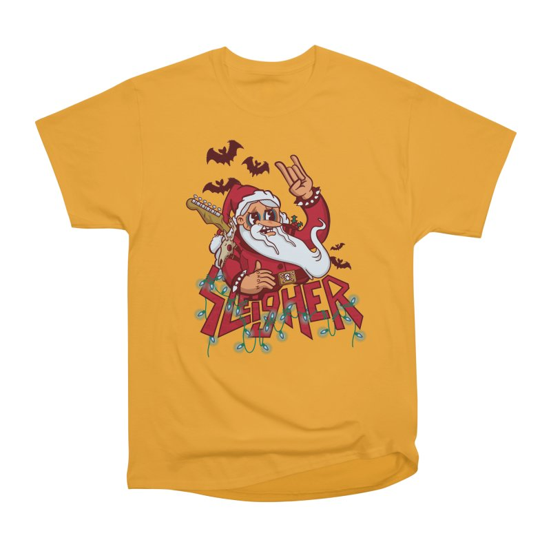 Christmas Sleigher Women's Heavyweight Unisex T-Shirt by Jesse Nickles