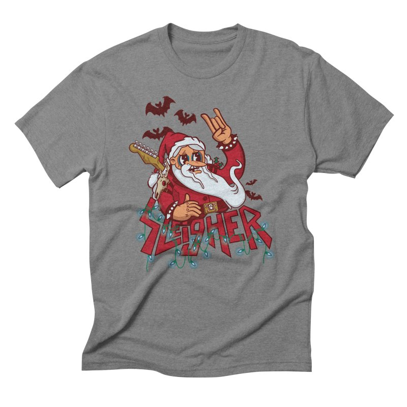 Christmas Sleigher Men's Triblend T-Shirt by Jesse Nickles