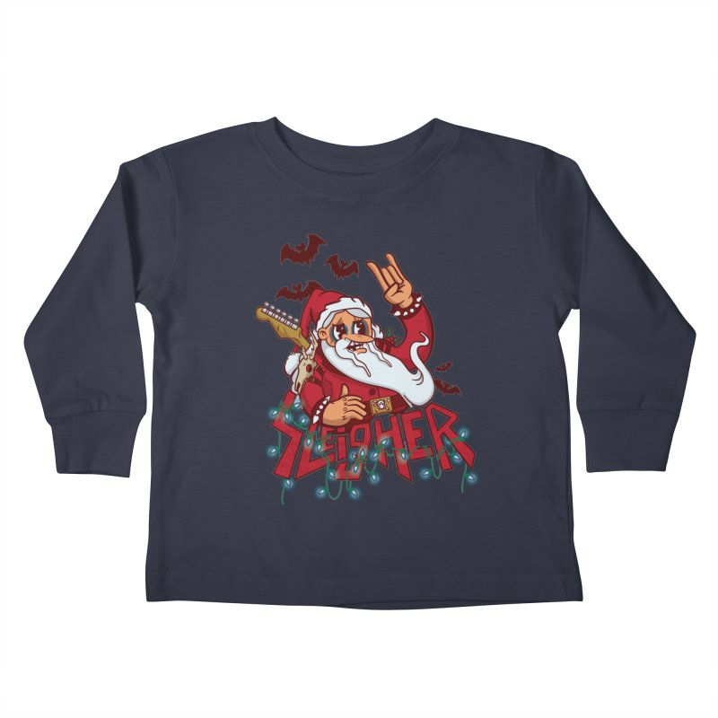Christmas Sleigher Kids Toddler Longsleeve T-Shirt by Jesse Nickles