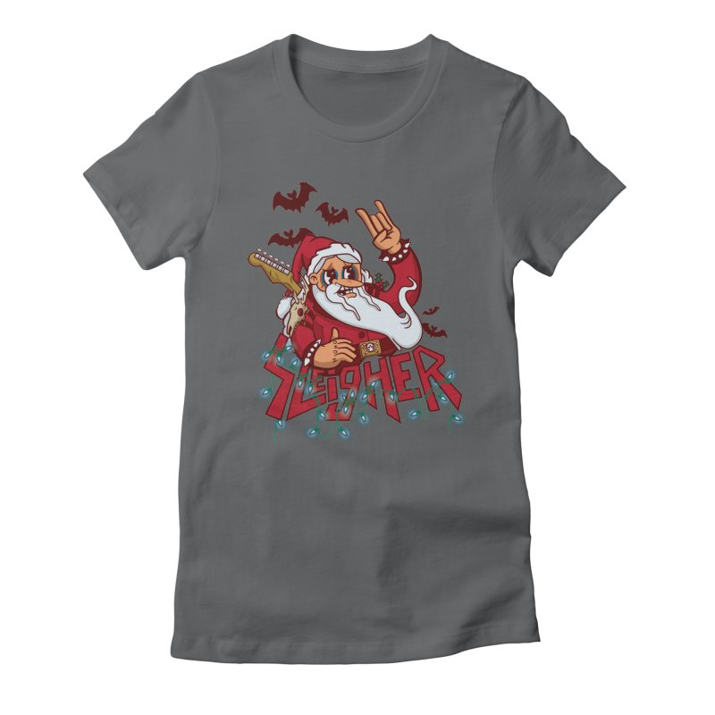 Christmas Sleigher Women's Fitted T-Shirt by Jesse Nickles