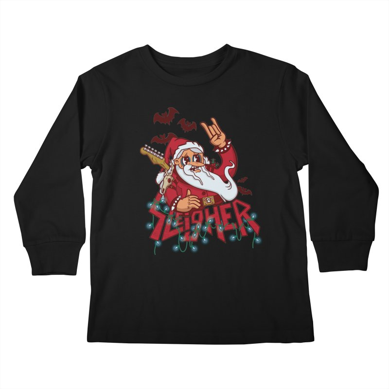 Christmas Sleigher Kids Longsleeve T-Shirt by Jesse Nickles