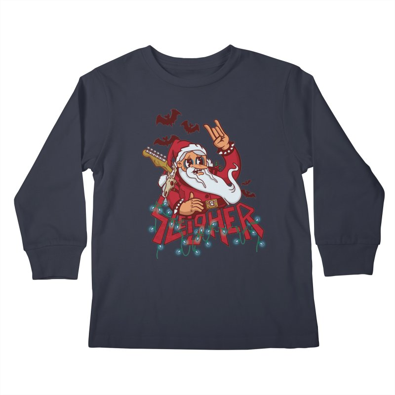 Christmas Sleigher Kids Longsleeve T-Shirt by Jesse Nickles