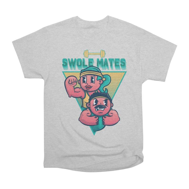 Swole Mates Women's Heavyweight Unisex T-Shirt by Jesse Nickles