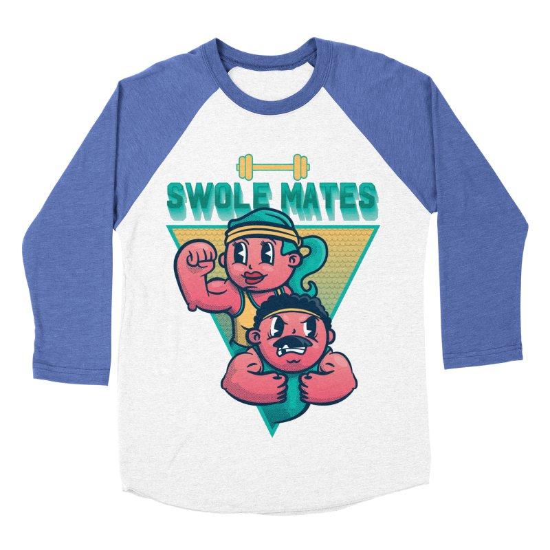 Swole Mates Men's Baseball Triblend T-Shirt by Jesse Nickles