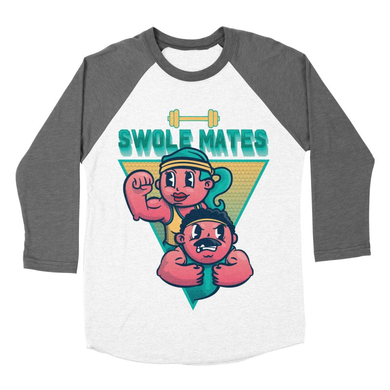 Swole Mates Men's Baseball Triblend Longsleeve T-Shirt by Jesse Nickles