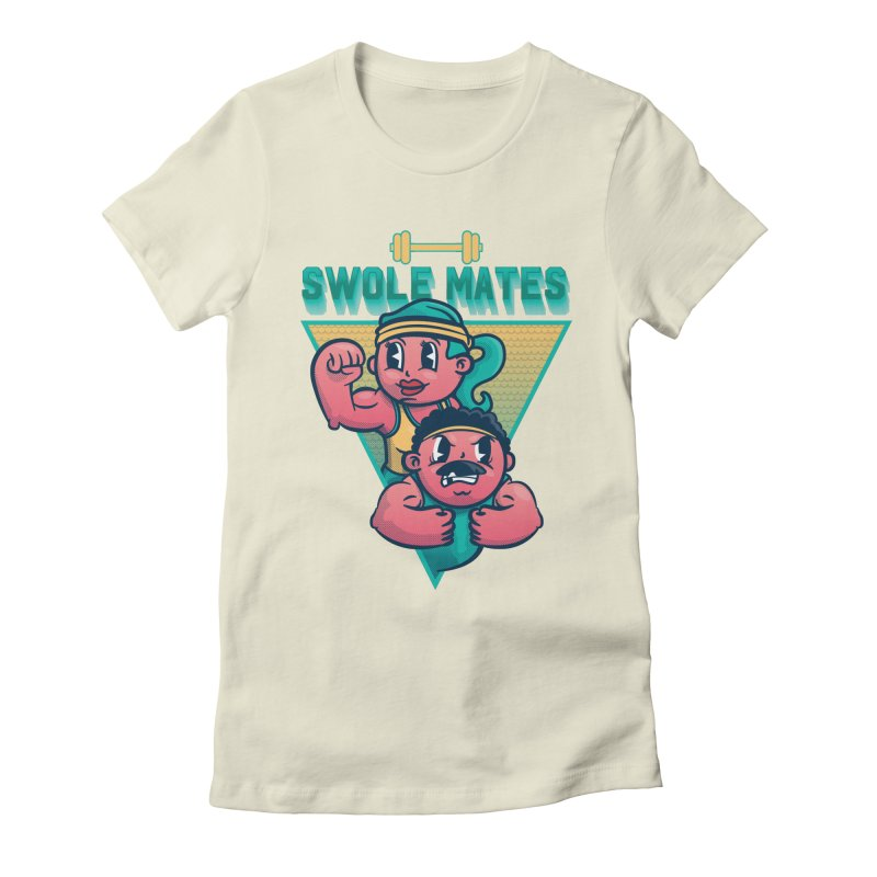 Swole Mates Women's Fitted T-Shirt by Jesse Nickles