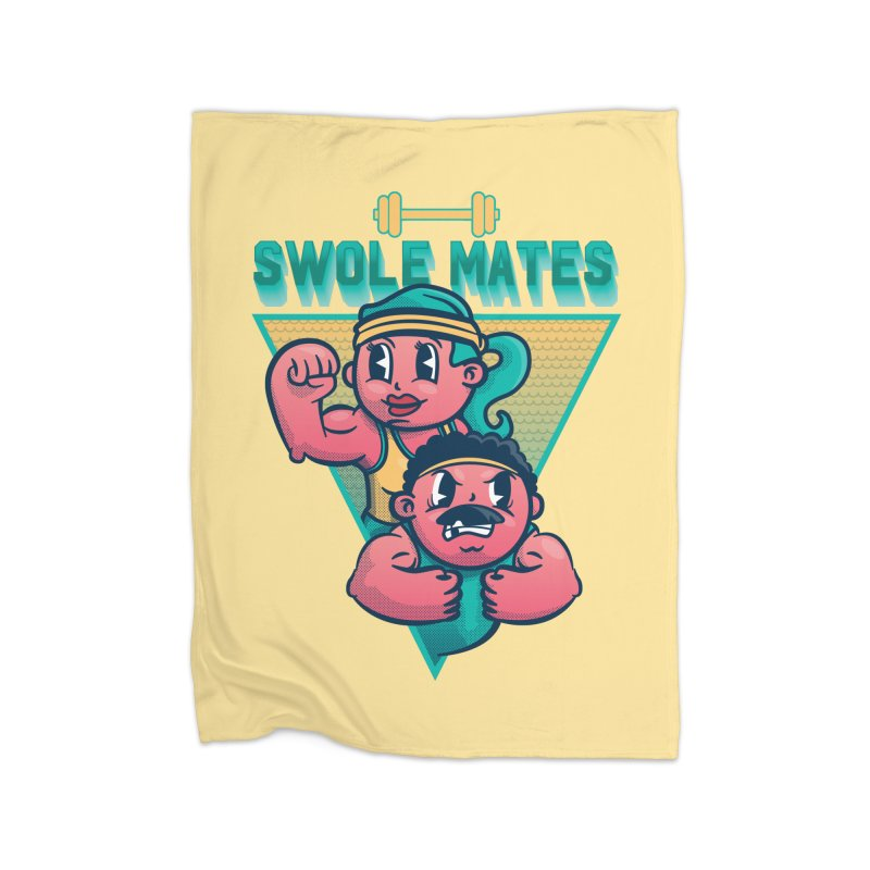 Swole Mates Home Blanket by Jesse Nickles