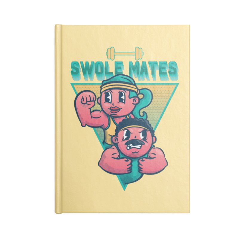 Swole Mates Accessories Lined Journal Notebook by Jesse Nickles