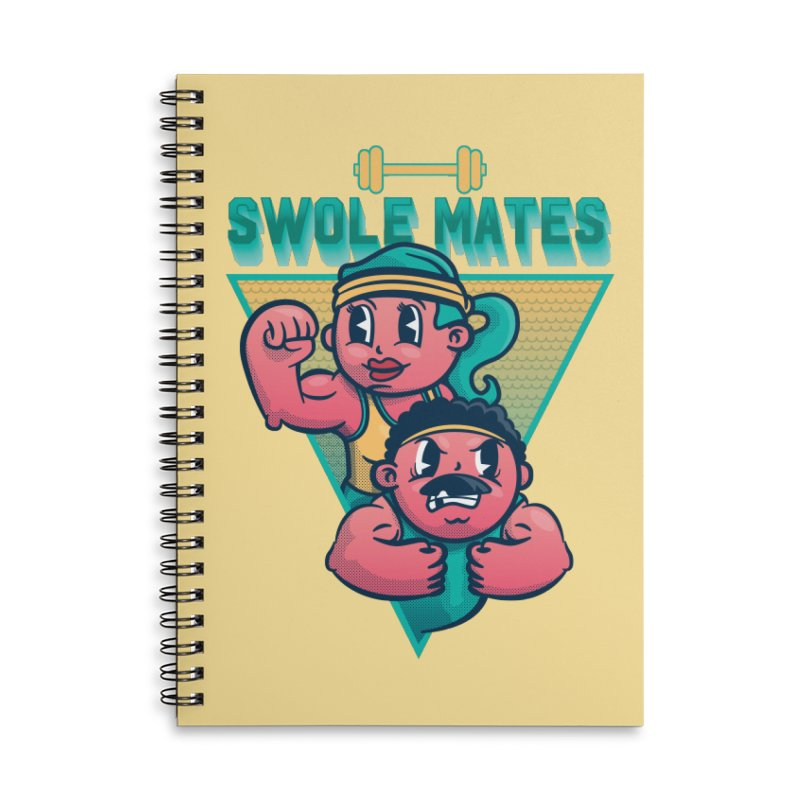 Swole Mates Accessories Lined Spiral Notebook by Jesse Nickles