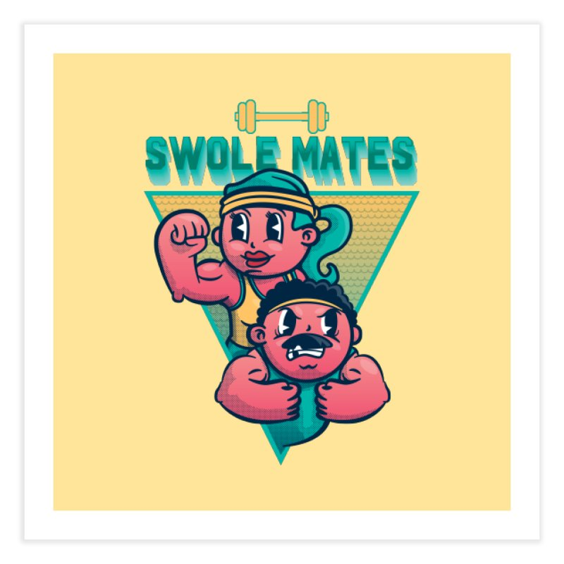 Swole Mates Home Fine Art Print by Jesse Nickles