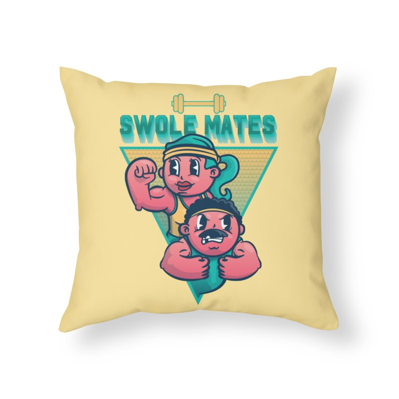 Swole Mates Home Throw Pillow by Jesse Nickles