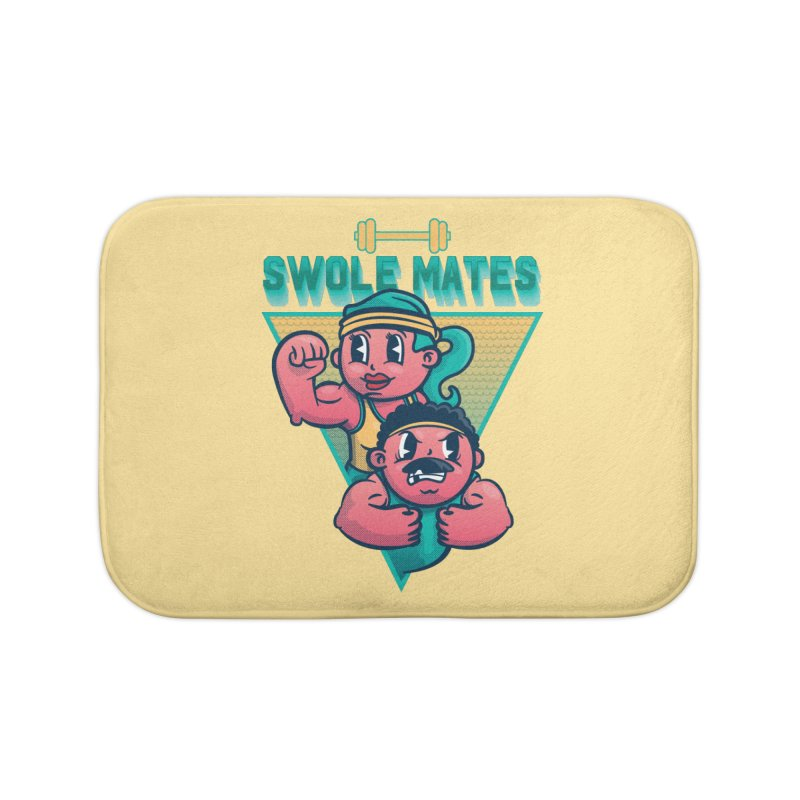 Swole Mates Home Bath Mat by Jesse Nickles