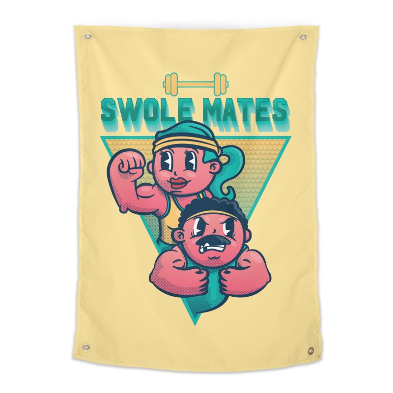 Swole Mates Home Tapestry by Jesse Nickles