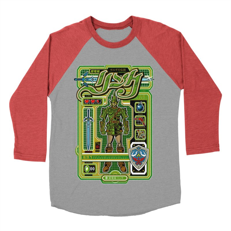 A Link to the Future Men's Baseball Triblend T-Shirt by Jesse Philips' Artist Shop