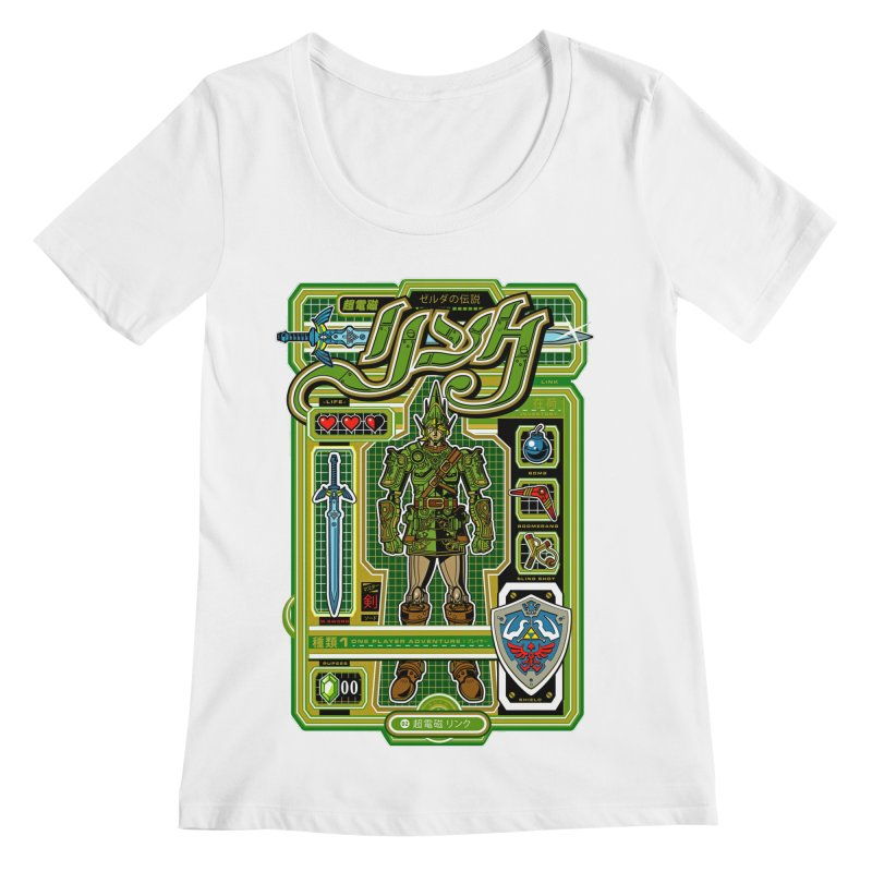 A Link to the Future Women's Scoopneck by Jesse Philips' Artist Shop