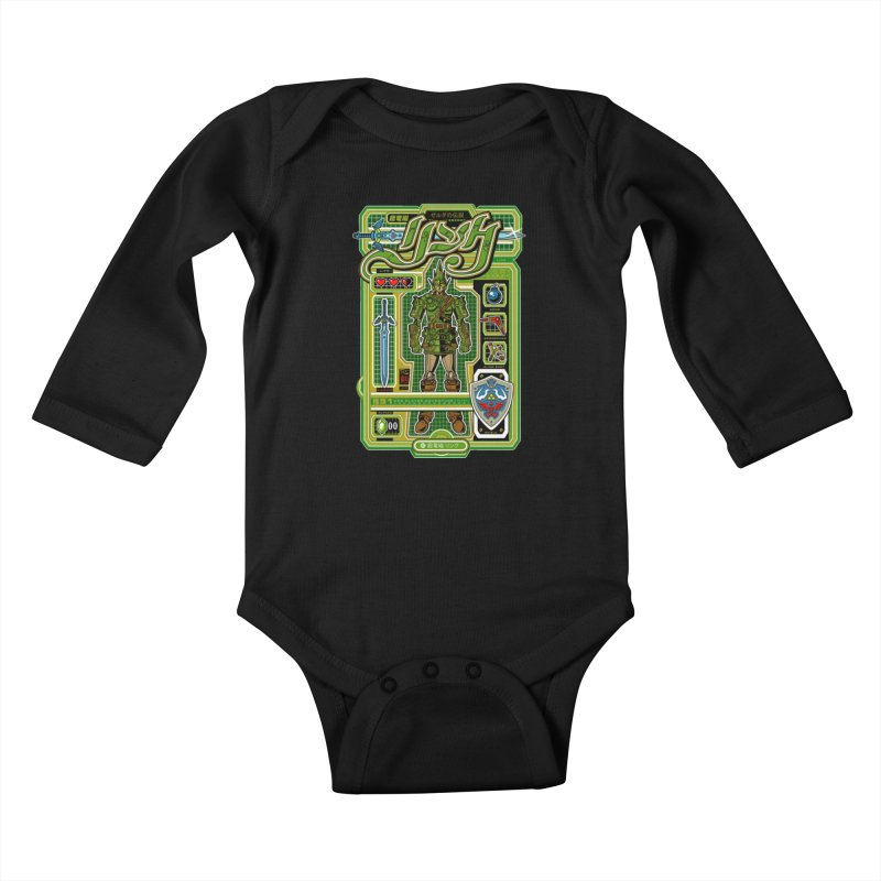 A Link to the Future Kids Baby Longsleeve Bodysuit by Jesse Philips' Artist Shop