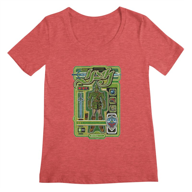 A Link to the Future Women's Regular Scoop Neck by Jesse Philips' Artist Shop