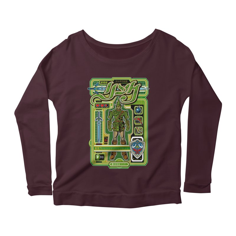 A Link to the Future Women's Longsleeve Scoopneck  by Jesse Philips' Artist Shop