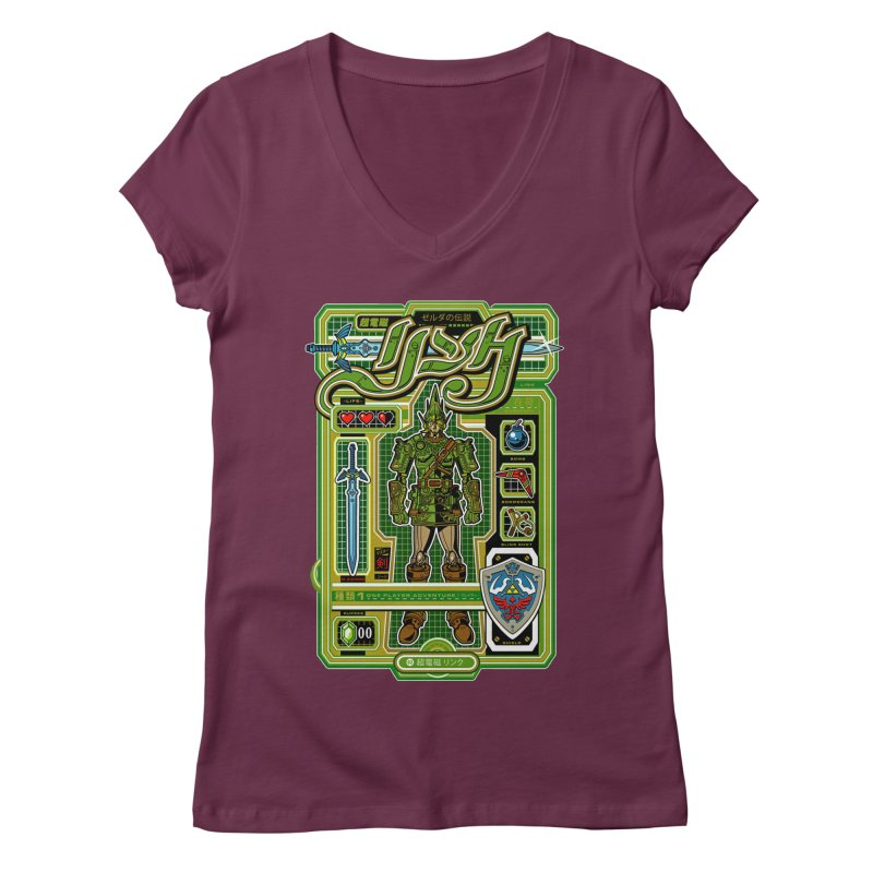 A Link to the Future Women's Regular V-Neck by Jesse Philips' Artist Shop