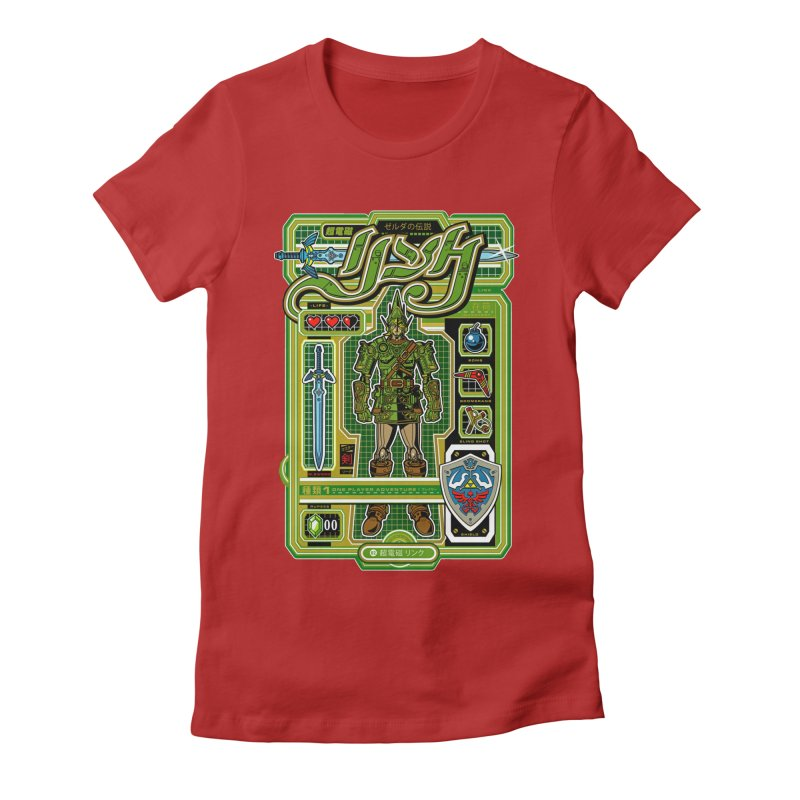 A Link to the Future Women's Fitted T-Shirt by Jesse Philips' Artist Shop