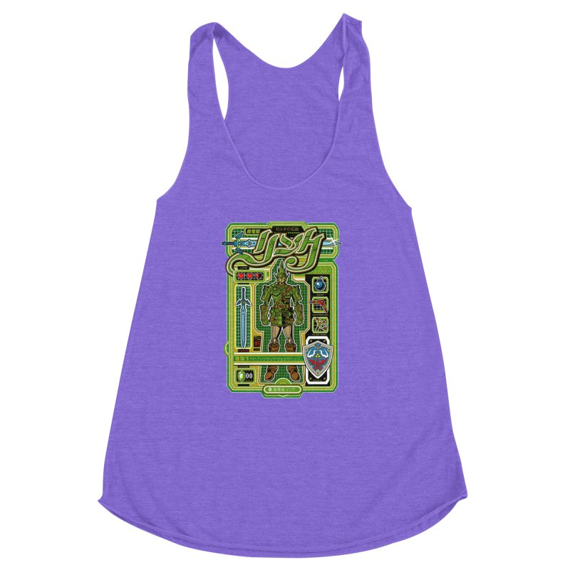 A Link to the Future Women's Racerback Triblend Tank by Jesse Philips' Artist Shop