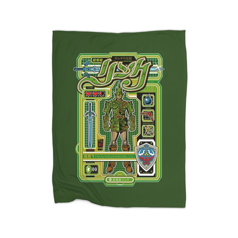 A Link to the Future Home Fleece Blanket by Jesse Philips' Artist Shop