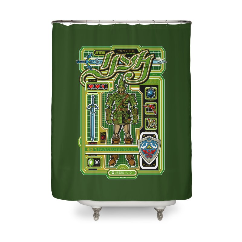 A Link to the Future Home Shower Curtain by Jesse Philips' Artist Shop