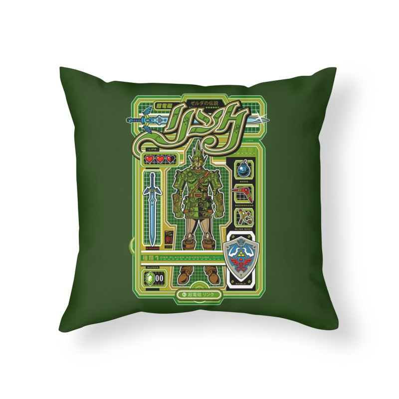 A Link to the Future Home Throw Pillow by Jesse Philips' Artist Shop